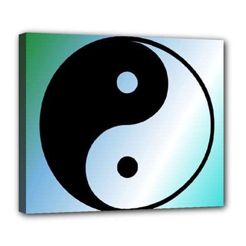 Ying Yang  Deluxe Canvas 24  x 20  (Framed)