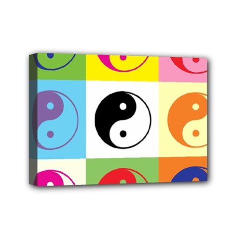 Ying Yang   Mini Canvas 7  X 5  (framed)
