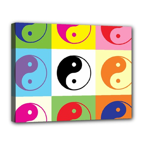 Ying Yang   Canvas 14  x 11  (Framed)