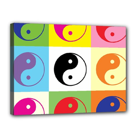 Ying Yang   Canvas 16  X 12  (framed)