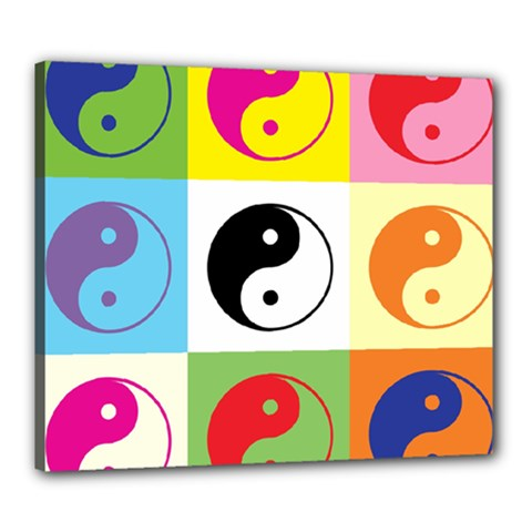 Ying Yang   Canvas 24  x 20  (Framed)