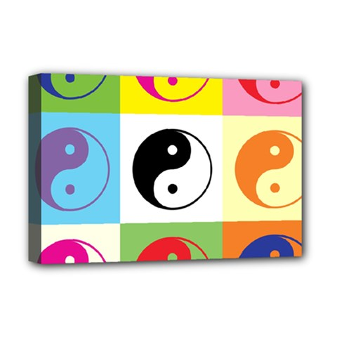 Ying Yang   Deluxe Canvas 18  X 12  (framed)