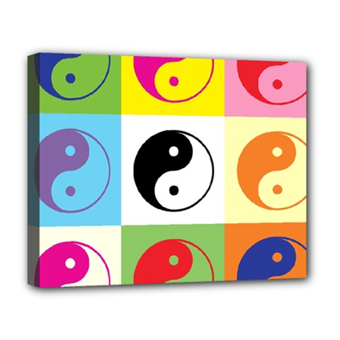 Ying Yang   Deluxe Canvas 20  x 16  (Framed)