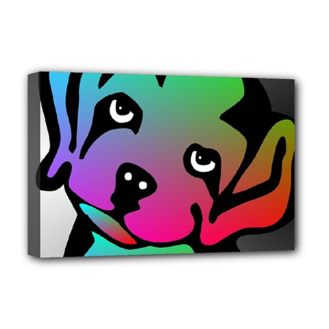 Dog Deluxe Canvas 18  x 12  (Framed)