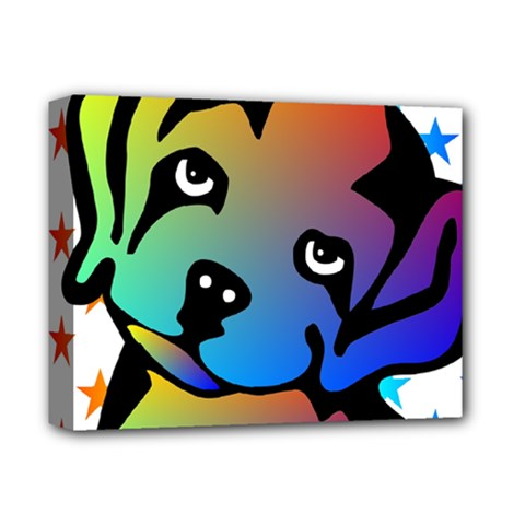 Dog Deluxe Canvas 14  X 11  (framed)