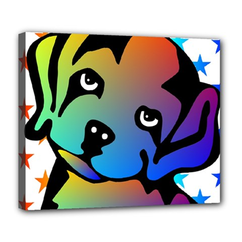Dog Deluxe Canvas 24  x 20  (Framed)