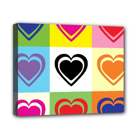 Hearts Canvas 10  x 8  (Framed)