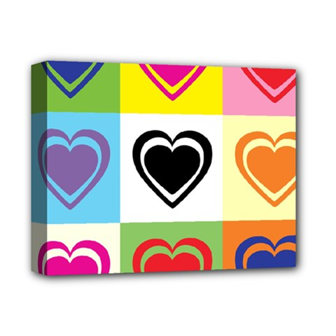 Hearts Deluxe Canvas 14  X 11  (framed)