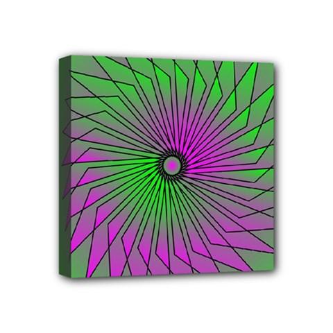 Pattern Mini Canvas 4  X 4  (framed)