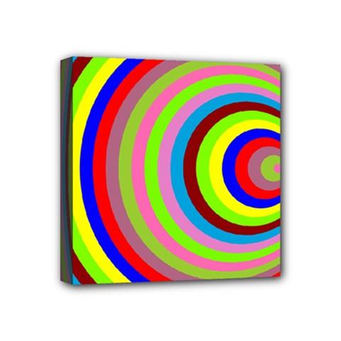 Color Mini Canvas 4  X 4  (framed)
