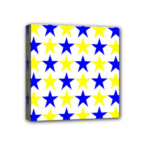 Star Mini Canvas 4  X 4  (framed)
