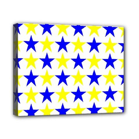 Star Canvas 10  X 8  (framed)
