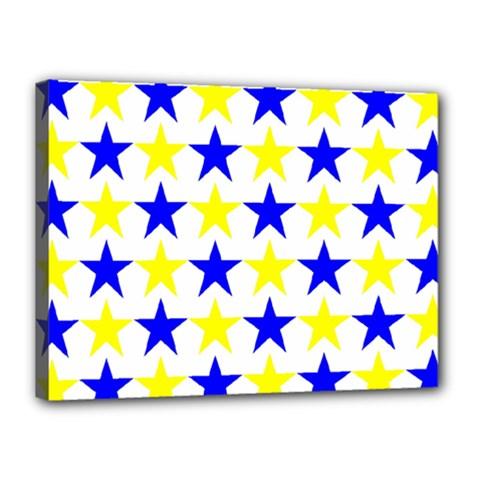 Star Canvas 16  X 12  (framed)