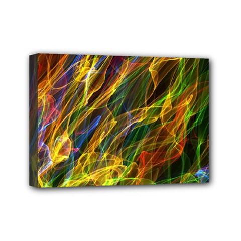 Abstract Smoke Mini Canvas 7  x 5  (Framed)