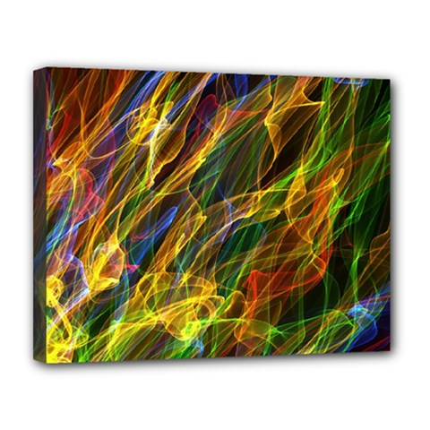 Abstract Smoke Canvas 14  X 11  (framed)