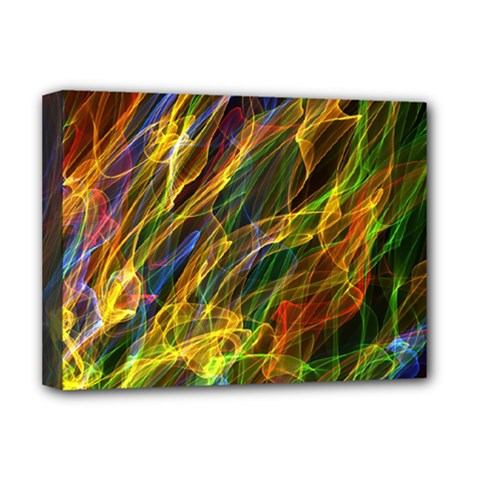 Abstract Smoke Deluxe Canvas 16  X 12  (framed)