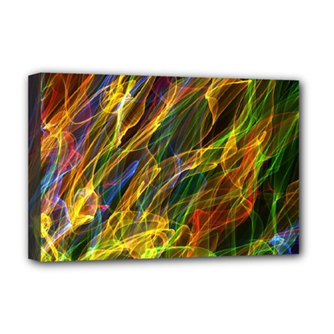 Abstract Smoke Deluxe Canvas 18  X 12  (framed)