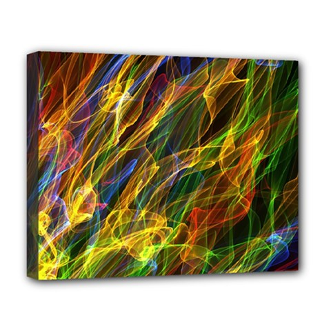 Abstract Smoke Deluxe Canvas 20  x 16  (Framed)
