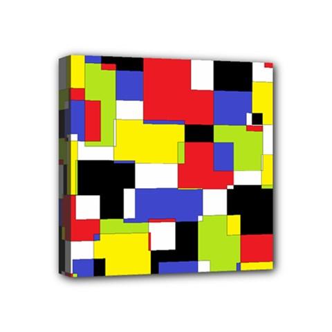 Mod Geometric Mini Canvas 4  x 4  (Framed)