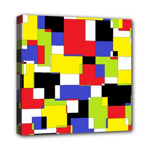 Mod Geometric Mini Canvas 8  X 8  (framed)