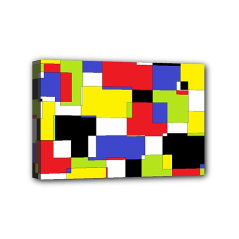 Mod Geometric Mini Canvas 6  x 4  (Framed)