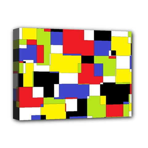 Mod Geometric Deluxe Canvas 16  x 12  (Framed)