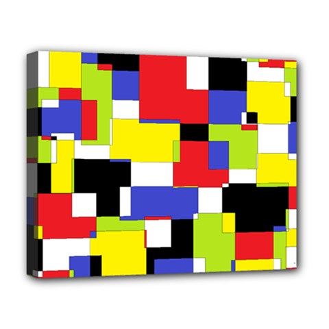 Mod Geometric Deluxe Canvas 20  X 16  (framed)