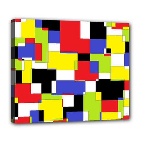 Mod Geometric Deluxe Canvas 24  x 20  (Framed)