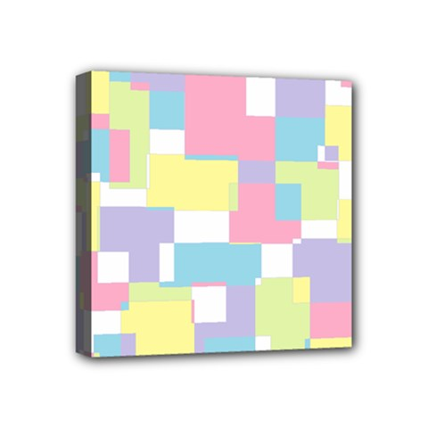 Mod Pastel Geometric Mini Canvas 4  X 4  (framed)