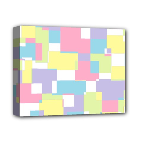 Mod Pastel Geometric Deluxe Canvas 14  x 11  (Framed)