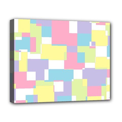 Mod Pastel Geometric Deluxe Canvas 20  x 16  (Framed)