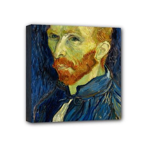 Vincent Van Gogh Self Portrait With Palette Mini Canvas 4  x 4  (Framed)
