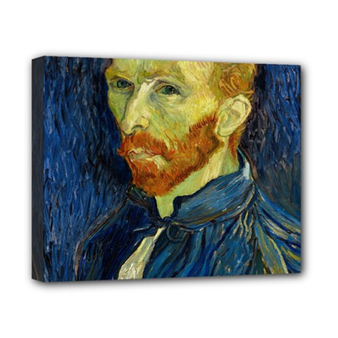 Vincent Van Gogh Self Portrait With Palette Canvas 10  X 8  (framed)
