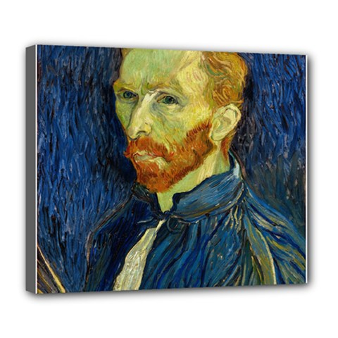 Vincent Van Gogh Self Portrait With Palette Deluxe Canvas 24  x 20  (Framed)