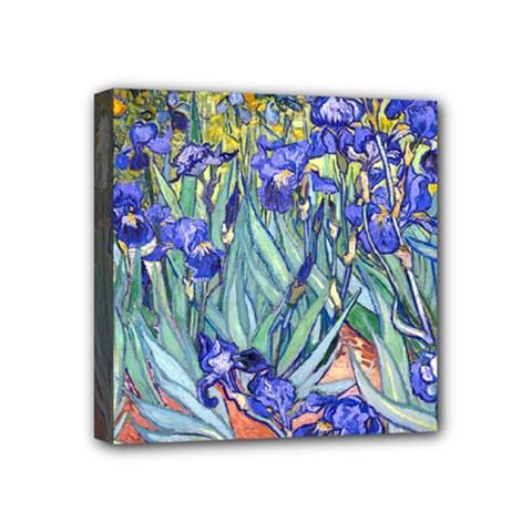 Vincent Van Gogh Irises Mini Canvas 4  x 4  (Framed)