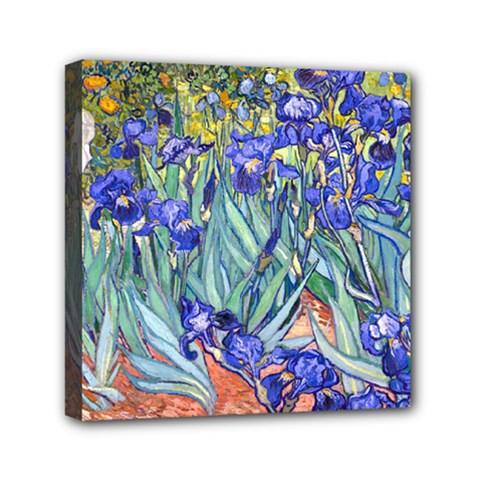 Vincent Van Gogh Irises Mini Canvas 6  x 6  (Framed)