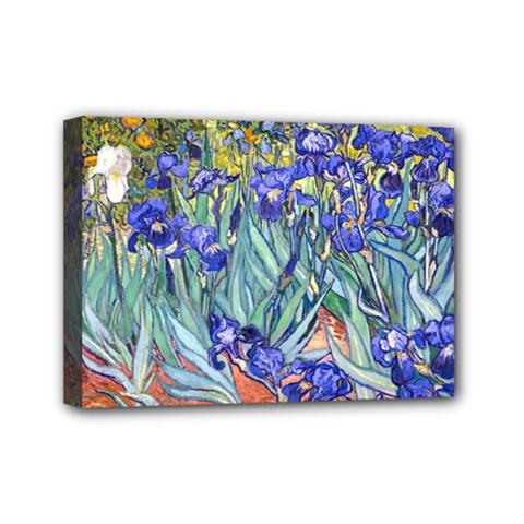 Vincent Van Gogh Irises Mini Canvas 7  x 5  (Framed)