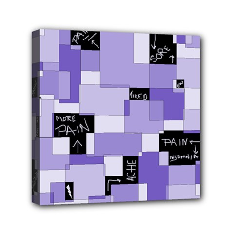 Purple Pain Modular Mini Canvas 6  x 6  (Framed)