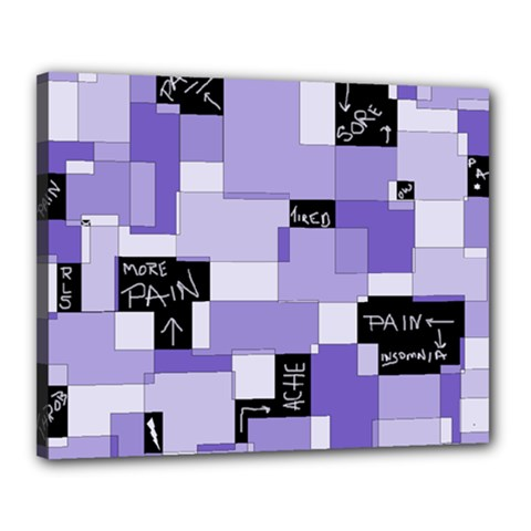 Purple Pain Modular Canvas 20  x 16  (Framed)