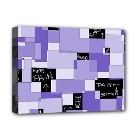 Purple Pain Modular Deluxe Canvas 16  x 12  (Framed)