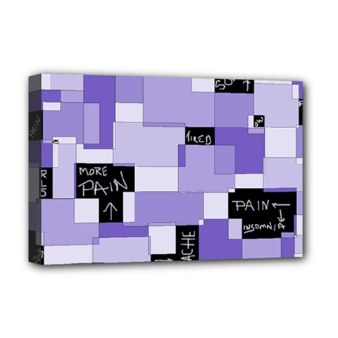 Purple Pain Modular Deluxe Canvas 18  X 12  (framed)