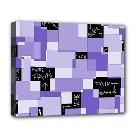 Purple Pain Modular Deluxe Canvas 20  X 16  (framed)