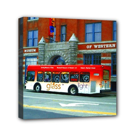 Double Decker Bus   Ave Hurley   Mini Canvas 6  x 6  (Framed)