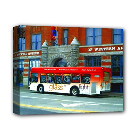 Double Decker Bus   Ave Hurley   Deluxe Canvas 14  X 11  (framed)