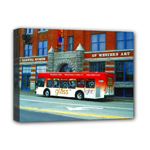 Double Decker Bus   Ave Hurley   Deluxe Canvas 16  x 12  (Framed)