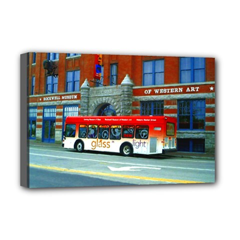 Double Decker Bus   Ave Hurley   Deluxe Canvas 18  x 12  (Framed)