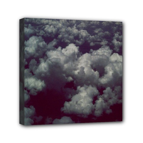 Through The Evening Clouds Mini Canvas 6  x 6  (Framed)
