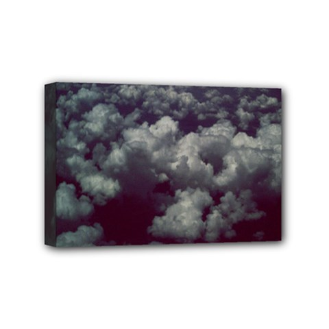 Through The Evening Clouds Mini Canvas 6  X 4  (framed)