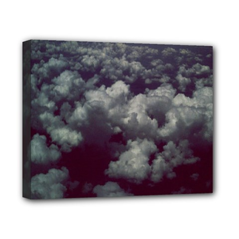 Through The Evening Clouds Canvas 10  x 8  (Framed)