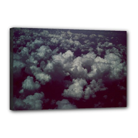 Through The Evening Clouds Canvas 18  x 12  (Framed)